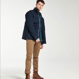 Timberland Jacket Military Inspired Coat Navy Blue